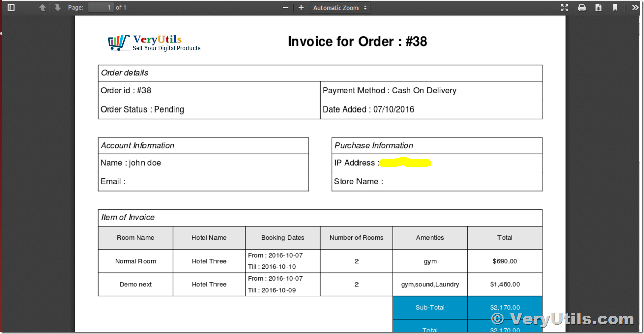 How to generate simple PDF invoice using FPDF library? | | VeryUtils