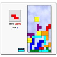 Online HTML5 Javascript Tetris