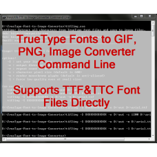 TrueType Font to Image Converter Command Line