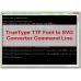 TrueType TTF Font to SVG Converter Command Line