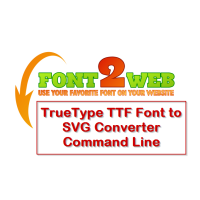 TrueType TTF Font to SVG Converter Command Line