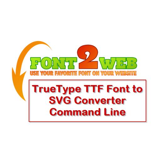 VeryUtils TTF to SVG Command Line full screenshot