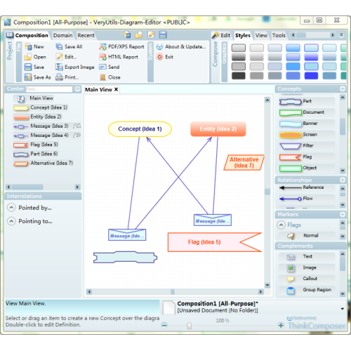 Windows 7 VeryUtils Diagram Editor Software 2.3 full