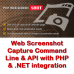 Web Screenshot Capture Command Line with .NET and PHP Integration