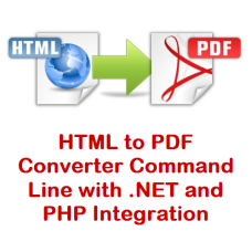 HTML to PDF Converter Command Line with .NET and PHP Integration