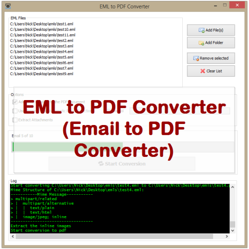 VeryUtils EML to PDF Converter full screenshot