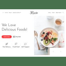 Responsive Bootstrap 4 Template for Restaurants