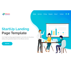 One Page HTML Bootstrap Business Template