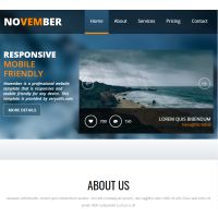 Bootstrap 4 HTML5 Business Website Template
