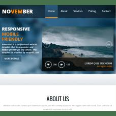 Bootstrap 4 HTML5 Business Website Template