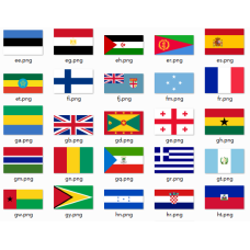 Flags of countries in the world