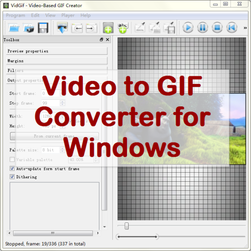 VeryUtils Video to GIF Converter full screenshot