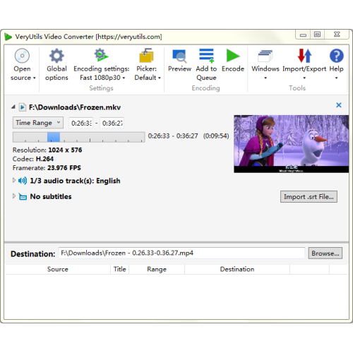 Windows 7 VeryUtils Video Converter 2.1 full