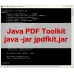 Java PDF Toolkit (jpdfkit)