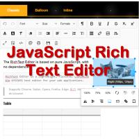 JavaScript RichText Editor