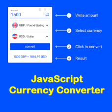 JavaScript Currency Converter, jQuery Currency Calculator