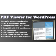 PDF Viewer for WordPress Plugin