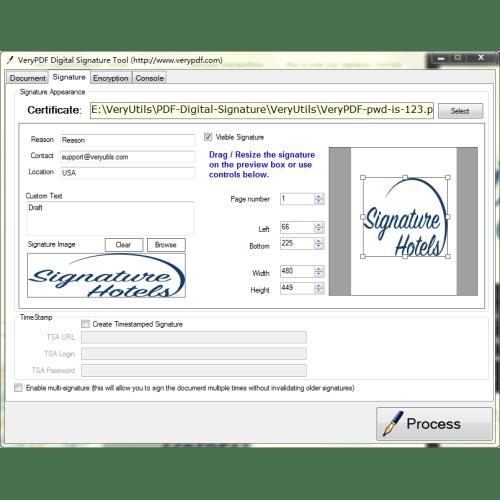 VeryUtils PDF Digital Signature Tool full screenshot