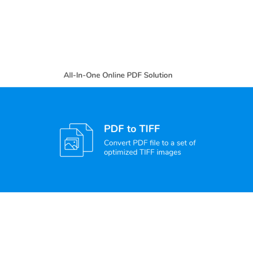 PDF to Image Converter – rasterize PDF documents to TIFF, JPEG, PNG