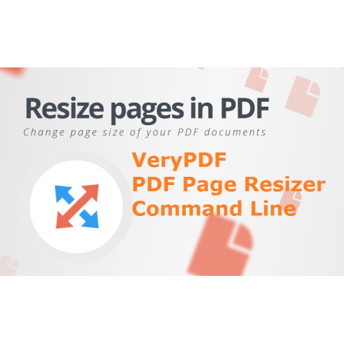 VeryUtils PDF Page Resizer Command Line full screenshot