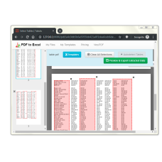 PDF Table Extractor (PDF to Excel Converter)