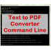 Text to PDF Converter Command Line