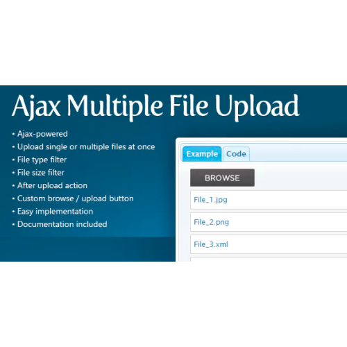 PHP AJAX jQuery Multiple File Upload Control