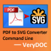 PDF to SVG Converter Command Line