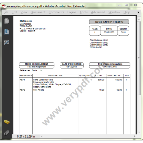 Create And Make Professional Looking Pdf Invoices Online Simple Online Invoice Template For Your Business Best Pdf Invoice Generator For Developers