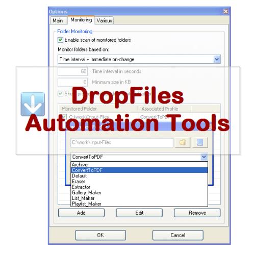 VeryUtils DropFiles Automation Tools full screenshot